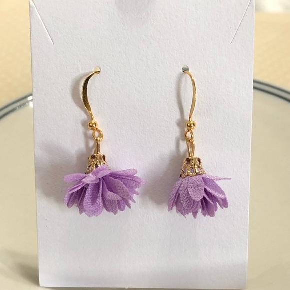 Nwot Lavendar Gold Necklace Earrings Rhinestones Jewelry Sets Fashion Jewelry